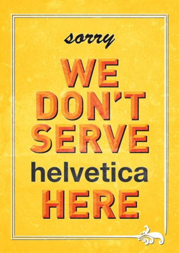 No Helvetica in Westend
